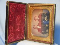 ' Victorian Couple in Ornate Case ' Vintage Tintype Image in Book £49.99